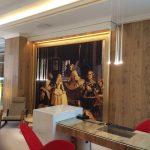 Marcos para cuadros de tamaño mural para importante hotel de gran lujo en Madrid. Arte y atrezzo.