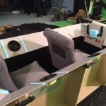 Cabina de vehículo para rodaje en Madrid de película de bajo presupuesto.