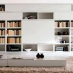 Muebles a medida en Madrid. Estantería a medida en color blanco.