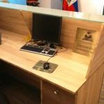 Mueble a medida realizado para la embajada de haiti en Madrid.