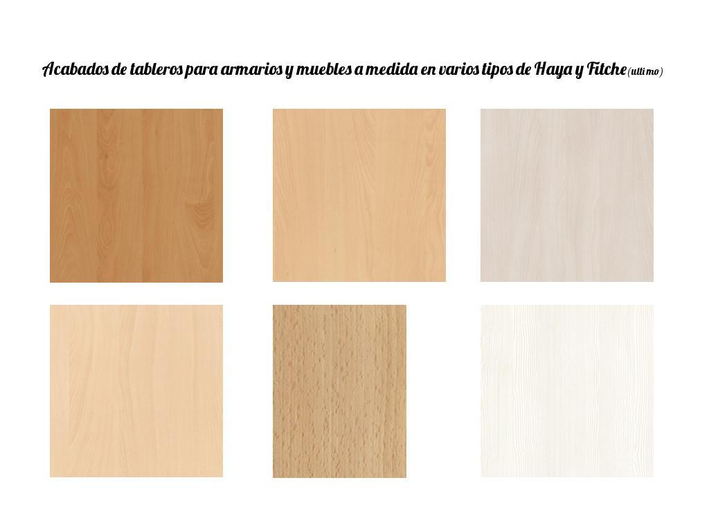 Acabados en madera para armarios y muebles carpintero for Diferentes tipos de muebles