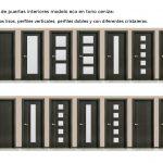 Novedades en puertas de interior. Modelos de puertas de interior económicas en ceniza