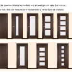 Novedades en puertas de interior. Modelos de puertas de interior económicas en wenge con la veta en posición horizontal.