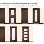 Novedades en puertas de interior. Modelos de puertas de interior económicas en wenge con veta horizontal.